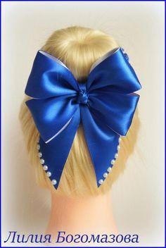 Фотография Ribbon Hair Bows, Diy Hair Bows, Diy Bow, Barrettes, Hairbows, Hair Bow Tutorial, Hair Decorations, Making Hair Bows, Lace Hair