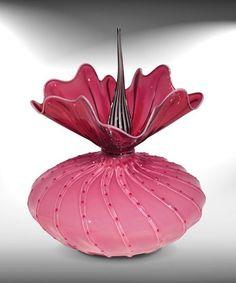 """""""Sweetheart Bobtanical"""" Art Glass Sculpture"""