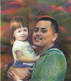 Aaron & Aniyah Colored Pencils, Ca. 2017, 11x14, Private Collection