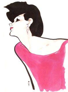 Study for Dior, 1983 René Gruau Jacques Fath, Marie Claire, Fashion Images, Fashion Art, Vintage Fashion, Fashion Design, Christian Dior, Pierre Balmain, Vogue