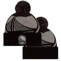 new concept 0dd66 da3dd Golden State Warriors New Era Primary Logo Whiz 2 Pom Knit - Black