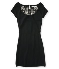 Lace Yoke Dress - Aeropostale