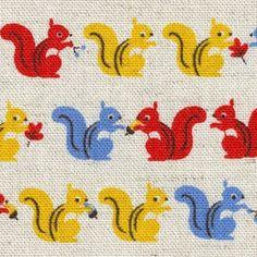 Sharing Squirrels - Japanese CUTE Fabric