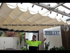 How to make and install an outdoor shade curtain - YouTube