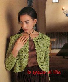 lo spazio di lilla: Collezione di bolero all'uncinetto con schemi / Crochet Bolero collection, with patterns