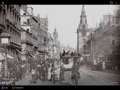Old Photographs Of Glasgow Old Photographs, Old Photos, Argyle Street, Scotland Travel, British History, Best Cities, Edinburgh, Cool Pictures, Street View