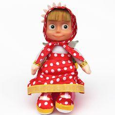 1 Pcs Plush Russian Masha And The Bear Cartoon Plush Doll Interactive Stuffed Toys Birthday Gift Masha And Bear Toys For Girls