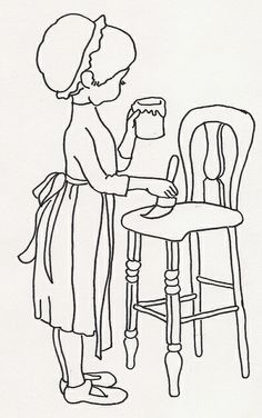 Girl Painting High Chair by JenineMD, via Flickr