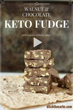 Only 1.1g net carbs. You have got to try this amazing walnut keto fudge recipe. It is so easy and takes only 5 minutes to make. Low carb, LCHF, Banting, gluten free and no added sugars.   ditchthecarbs.com via @ditchthecarbs