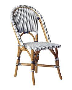 Riviera Side Chair - Black - Bistro Style - Hand-Bent Rattan - Home Decor & Furniture - Serena & Lily - Similar To St. Patio Furniture Sets, Furniture Chair, Dining Furniture, Furniture, Dining Room Chairs, Dining Chairs, Patio Furnishings, Chair Design, Bistro Chairs