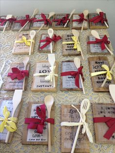 Bridal Shower Favors But With Fall Napkins