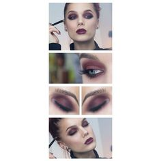 Eyeshadow and lipstick combinations for every kind of shade Eyeshadows ❤ liked…