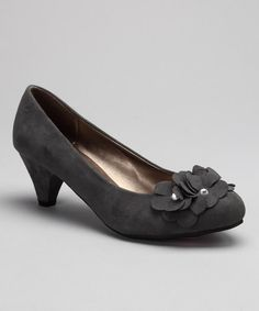 Take a look at this Gray Petal Pump by Shully's on #zulily today!