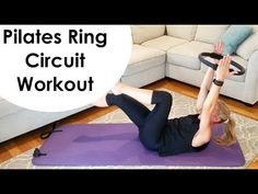 Join me for a PILATES RING circuit workout where you will perform core based exercises focusing on form and alignment. Target deep intrinsic muscles by using. Pilates Abs, Pilates Workout Routine, Pilates Training, Pilates Ring Exercises, Pilates Challenge, Workouts, Magic Circle Pilates, Rings Workout, Youtube Workout Videos