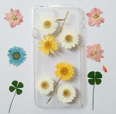 iPhone 5s Case Floral iPhone 5 Case Clear Pressed by mugandcase