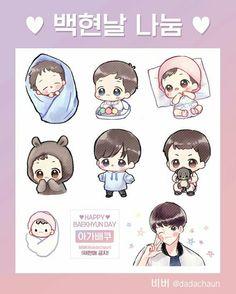 Baekhyun Fanart, Kpop Fanart, Exo Stickers, Exo Fan Art, Cute Easy Drawings, Bts Chibi, Doodle Art, Doodles, Chanbaek