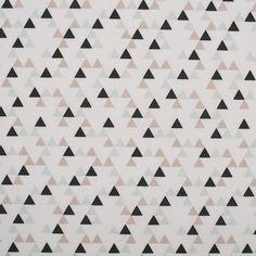 Tissu coton triangles mountain   - Mondial Tissus