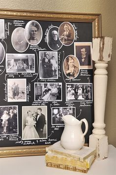 12 Family Tree Ideas You Can DIY, Even If You Didn't Get the Creative Gene - genealogy - Familie Family Tree Photo, Family Tree Art, Photo Tree, Diy Family Tree Project, Family Tree Gifts, Family Tree Wall Decor, Family Tree Search, Family Tree Designs, Diy Photo