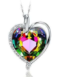 Shakti Jewels Mothers Day Heart in Simulated Diamond CZ Mom Pendant with 18 Chain