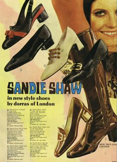 Sandie Shaw shoes - ironic, really, when you consider she became famous for always singing sans footwear...