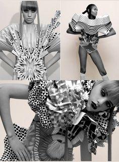 Petra Storr    Paper designs: Petra Storrs ; Photos: Rai Royal ; Styling: Justine Josephs    http://ajurettemagablog.blogspot.sg/2010/11/origami-inspired-fashion-designs-part.html#
