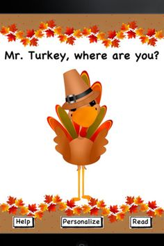 Mr. Turkey, Where are you? app for preschoolers