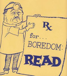 Bibliotheekposters, vintage ads for books