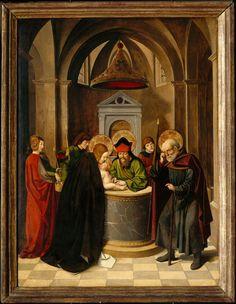 Josse Lieferinxe, Polyptyque de la Vierge : la circoncision (Avinhon, 1493-1505, Musée du Petit Palais, Avinhon)