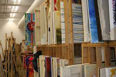 Art studio painting storage