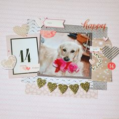 #Papercraft #scrapbook #layout.  Amy by ClaudiavanR at @studio_calico