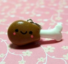 Made out of polymer clay, an cute but different charm a chicken leg???