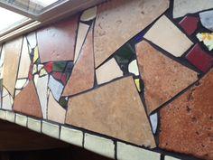 Tile mosaic windowsill.