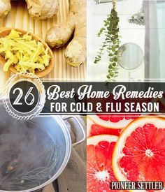 You're going to love these 26 Home Remedies For Cold & Flu Season. Now you can feel better the natural way!  We all know it's coming with it's inevitable tide of nausea, aches, and congestion - cold and flu season is here. I've tested multiple natural home remedies for colds, coughs and the flu