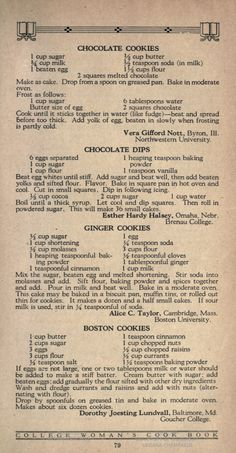 Cooking is the best thing in my life Retro Recipes, Old Recipes, Healthy Recipes, Vintage Recipes, Cookbook Recipes, Cookie Recipes, Dessert Recipes, Recipies, Family Recipes