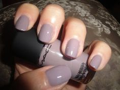MAC Cool Reserve Nail Polish, this is a gorgeous color!
