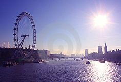 London Eye over river Thames
