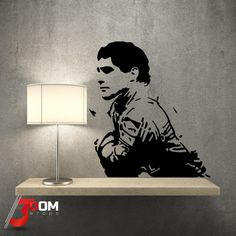 Legends Wall Art Decal - Ayrton Senna Thinking Vinyl Art, Vinyl Wall Decals, Wall Stickers, All Wall, Interior And Exterior, Decor Styles, Legends, Wraps, Wall Art