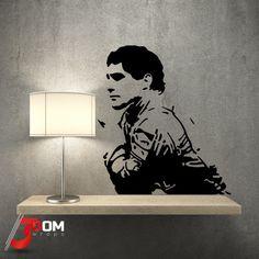 Legends Wall Vinyl - Ayrton Senna Thinking   3Dom Wraps – 3Dom Wraps Store