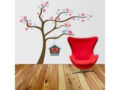 Adesivo de parede Árvore Ninho de Passarinho