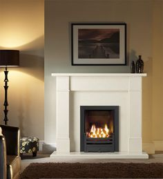LoveFirePlaces, the online fire and fireplaces company based in the UK, announced the launch of new contemporary Marble Stone Fireplace packages range for living room. Gallery Marble Fireplace packages offers integrated and modern solution for Heating a Fireplace Surrounds, Fireplace Design, Fireplace Mantels, Simple Fireplace, Fireplace Remodel, Style At Home, New Living Room, Living Room Decor, Marble Fireplaces