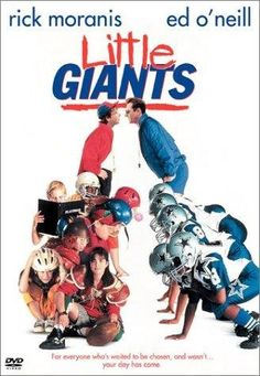 Little Giants is a 1994 family sports comedy film, starring Rick Moranis and Ed O'Neill as brothers in a small Ohio town, coaching rival Pee-Wee Football teams Childhood Movies, 90s Movies, Great Movies, Awesome Movies, Movies Free, Watch Movies, Disney Movies, Family Movie Night, Family Movies