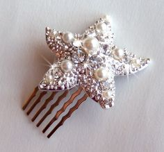 This is for the glamorous mermaid that is in us all! Encrusted with rhinestones and pearls it is a truly beautiful hair comb which I don't think should be just reserved for weddings. It is made by GetNoticed on Etsy and is a very reasonable $26. The seller is also donates $1 of every item sold to the American Cancer Society so it's good for the soul too!