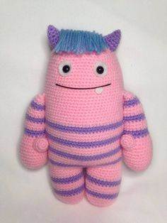 Heart & Sew: Mallow The Monster - Free Crochet / Amigurumi Pattern, stuffed toy, #haken, gratis patroon (Engels), monster, knuffel, speelgoed, #haakpatroon