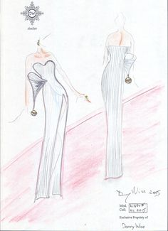 DANNY WISE Art Schetches. titol: Haute Couture in Cannes . private collection Mrs. Anna Nicosiano.