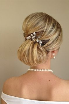 wedding hairstyles - french chignon updo