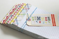 Easy, inexpensive notepads to use or give away....less than 50 cents each using scrapbook paper I already have.