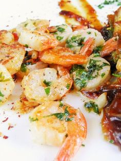 Superfood, Seafood Recipes, Pasta Salad, Potato Salad, Shrimp, Recipies, Good Food, Rolls, Food And Drink