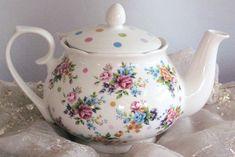 spring floral teapot