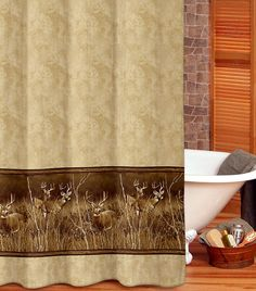 Rustic Shower Curtains U2013 Bathroom Accessories For Lodge Or Cabin