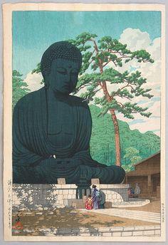 川瀬巴水: The Great Buddha - Artelino